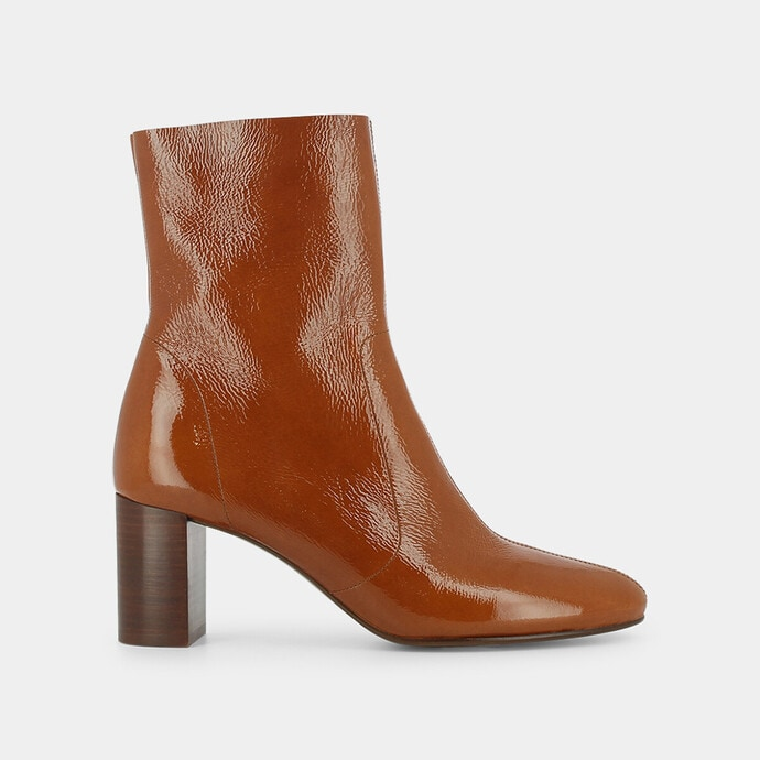 CHAUSSURE BOTTE BOTTINES JONAK CUIR TAILLE 38 LEATHER BOOTS